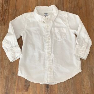 Old Navy 18-24 Months White Button Down Shirt